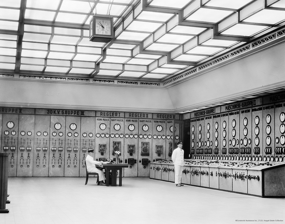 Control room, Klingenberg power Station, Berlin, 1928
