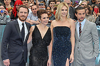 LONDON - MAY 31: Michael Fassbender; Noomi Rapace; Charlize Theron; Logan Marshall-Green  attend the World Film Premiere of 'Prometheus' at the Empire Cinema, Leicester Square, London, UK. May 31, 2012. (Photo by Richard Goldschmidt)
