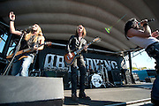 Art of Dying performing at the Verizon Wireless Amphitheater in Noblesville, IN on the 2011 Uproar Tour on September 17, 2011