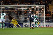 31st October 2018, Kilmac Stadium, Dundee, Scotland; Ladbrokes Premiership football, Dundee v Celtic; Scott Sinclair of Celtic scores for 2-0 in the 34th minute