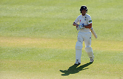 Dejection for Durham's Michael Richardson - Photo mandatory by-line: Harry Trump/JMP - Mobile: 07966 386802 - 14/04/15 - SPORT - CRICKET - LVCC County Championship - Day 3 - Somerset v Durham - The County Ground, Taunton, England.