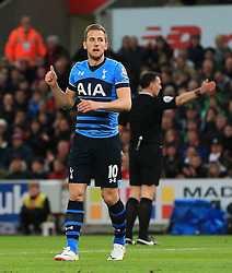 Harry Kane of Tottenham Hotspur reacts after his shot is saved - Mandatory by-line: Matt McNulty/JMP - 18/04/2016 - FOOTBALL - Britannia Stadium - Stoke, England - Stoke City v Tottenham Hotspur - Barclays Premier League