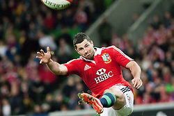 © Licensed to London News Pictures. 25/6/2013. Conor Murray kicks the ball during the British & irish Lions tour match between Melbourne Rebels Vs British & Irish Lions at AAMI Park, Melbourne, Australia. Photo credit : Asanka Brendon Ratnayake/LNP
