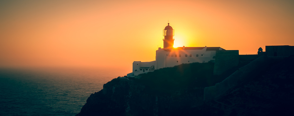 Lighthouse at Sunset, Portugal