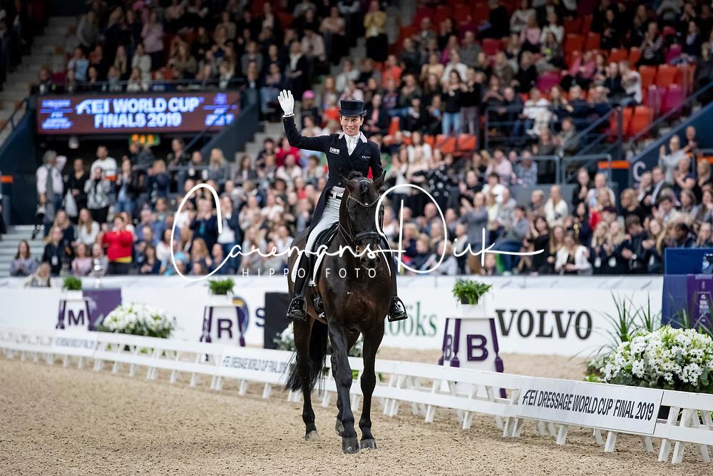 LANGEHANENBERG Helen (GER), Damsey FRH<br /> Göteborg - Gothenburg Horse Show 2019 <br /> FEI Dressage World Cup™ Final II<br /> Grand Prix Freestyle/Kür<br /> Longines FEI Jumping World Cup™ Final and FEI Dressage World Cup™ Final<br /> 06. April 2019<br /> © www.sportfotos-lafrentz.de/Stefan Lafrentz