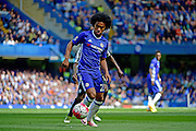 Chelsea Midfielder Willian (22) during the Barclays Premier League match between Chelsea and Leicester City at Stamford Bridge, London, England on 15 May 2016. Photo by Jon Bromley.
