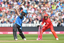 Worcestershire Rapid's Ben Cox is bowled out by Lancashire Lightning's Matthew Parkinson during the Vitality T20 Blast Semi Final match on Finals Day at Edgbaston, Birmingham.