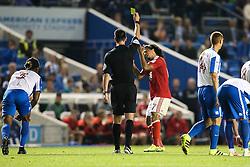 Hildeberto Pereira of Nottingham Forest receives a yellow card - Mandatory by-line: Jason Brown/JMP - 12/08/2016 - FOOTBALL - Amex Stadium - Brighton, England - Brighton & Hove Albion v Nottingham Forest - Sky Bet Championship