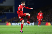 Bayern Munich forward Robert Lewandowski shoots at goal during the Champions League match between Chelsea and Bayern Munich at Stamford Bridge, London, England on 25 February 2020.