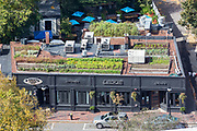 A 2,000-square-foot garden on top of Ledge Kitchen & Drinks, in the Boston neighborhood of Dorchester. The installation was done by Recover Green Roofs, a Somerville company.