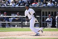 CHICAGO - APRIL 11:  Alexei Ramirez #10 of the Chicago White Sox bats against the Minnesota Twins on April 11, 2015 at U.S. Cellular Field in Chicago, Illinois.  (Photo by Ron Vesely)   Subject:   Alexei Ramirez