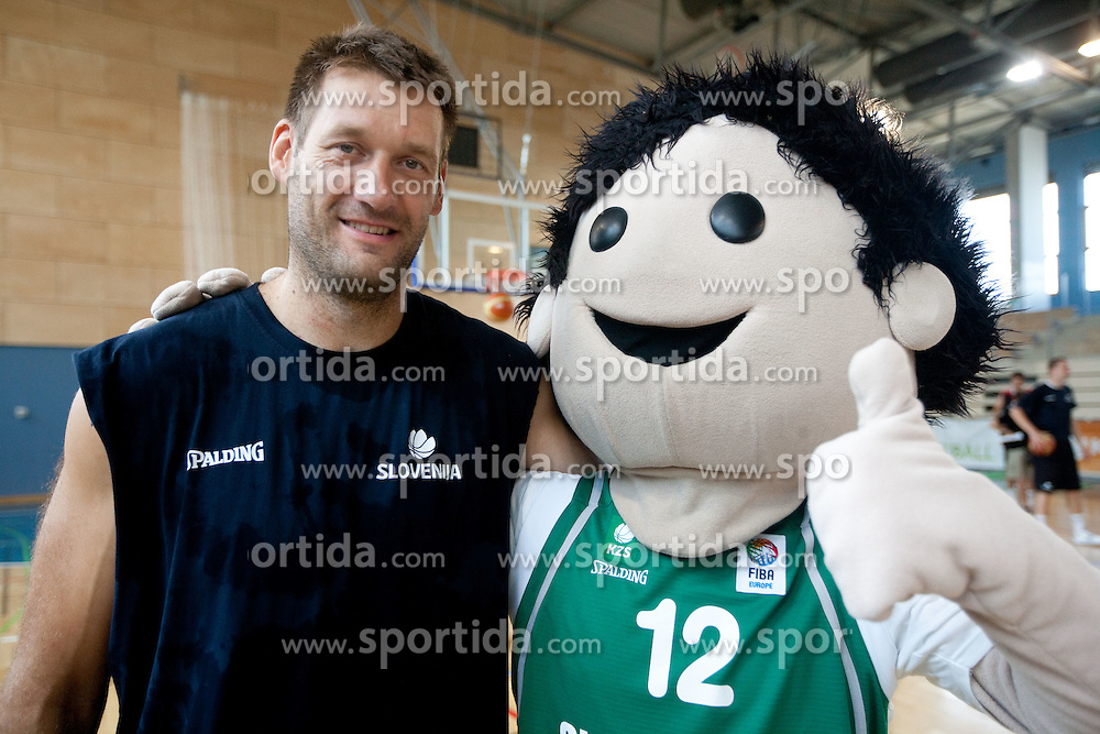 Goran Jagodnik during media day at training camp of Slovenian National Basketball team for Eurobasket Lithuania 2011, on July 19, 2011, in Arena Ljudski vrt, Ptuj, Slovenia.  (Photo by Vid Ponikvar / Sportida)