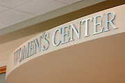 18256Women's Center Signage & Front inside Baker Center