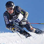 Sam Higgins, USA, in action during the Men's Giant Slalom competition at Coronet Peak, New Zealand during the Winter Games. Queenstown, New Zealand, 22nd August 2011. Photo Tim Clayton