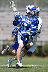 06 May 2007: Air Force midfielder Justin Kuchta during a 19-6 Duke Blue Devils victory over the Air Force Falcons at Koskinen Stadium in Durham, NC.
