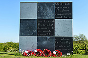 The Walter Tull memorial at Sixfields Stadium during the EFL Sky Bet League 1 match between Northampton Town and Oldham Athletic at Sixfields Stadium, Northampton, England on 5 May 2018. Picture by Dennis Goodwin.
