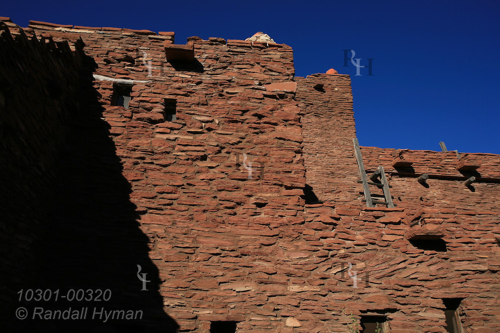 Stone facade of Hopi House in Grand Canyon Village; South Rim, Grand Canyon National Park, Arizona.
