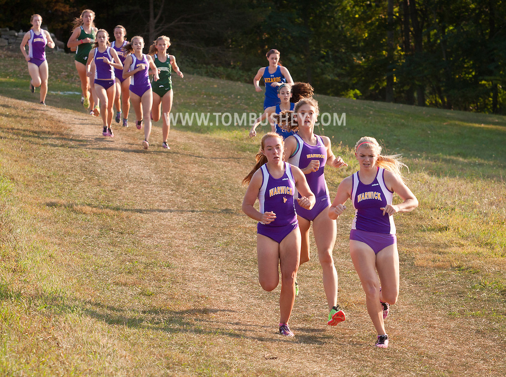 Warwick, New York - Warwick hosts a high school cross country meet with Cornwall, Pine Bush and Washingtonville at Sanfordville Elementary School on Sept. 30, 2014.