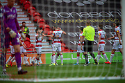 Goal Doncaster Rovers Celebrate as Jon Taylor Of Doncaster Rovers scores a goal to make it 2-0 during the EFL Sky Bet League 1 match between Doncaster Rovers and Bristol Rovers at the Keepmoat Stadium, Doncaster, England on 19 October 2019.