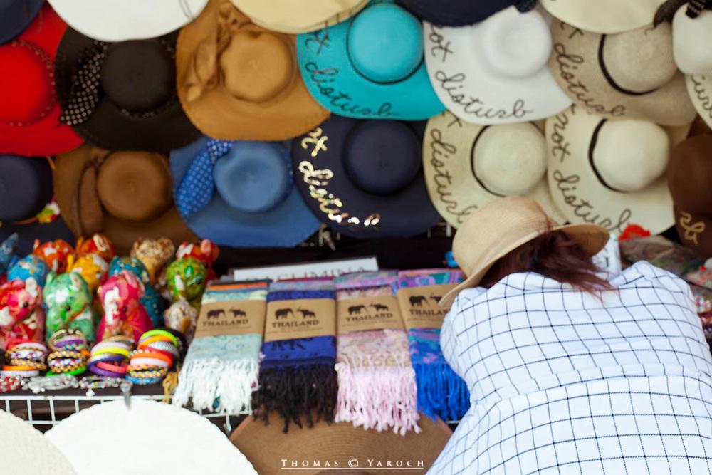 Thailand street vendor takes a nap