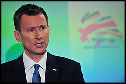 Jeremy Hunt speaking at the Conservative Spring Conference, London, Saturday March 16, 2013. Photo By Andrew Parsons / i-Images
