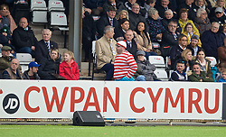 RHOSYMEDRE, WALES - Sunday, May 5, 2019: A supporter dressed as Where's Wally during the FAW JD Welsh Cup Final between Connah's Quay Nomads FC and The New Saints FC at The Rock. (Pic by David Rawcliffe/Propaganda)