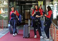 ODBOJKA, BEOGRAD, 21. Oct. 2010. - Odbojkasice  Srbije otisle su danas u Kinu gde ce se pripremati za XVI SP 2010 koje se odigrava u Japanu. Foto: Nenad Negovanovic