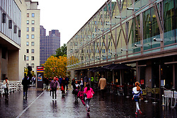 A rainy day in London's arts and theatre district.