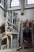 spätgotische Treppe, Münster innen, Konstanz, Bodensee, Baden-Württemberg, Deutschland