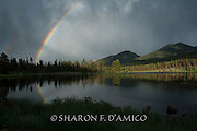 AFTER THE STORM.JPG  Rocky Mountain National Park  Magical Light Falls on Lake with Rainbows