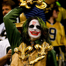 September 23, 2012; New Orleans, LA, USA; A New Orleans Saints fan in the stands during the first quarter of a game against the Kansas City Chiefs at the Mercedes-Benz Superdome. Mandatory Credit: Derick E. Hingle-US PRESSWIRE