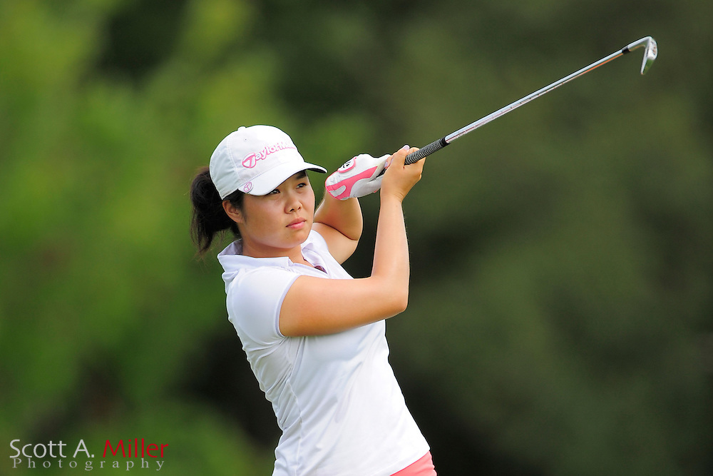 Esther Choe in action during the final round of the Daytona Beach Invitational  at LPGA International on Sep 30, 2012 in Daytona Beach, Florida...©2012 Scott A. Miller