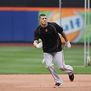 Manny Machado, Baltimore Orioles, during batting practice before the New York Mets Vs Baltimore Orioles MLB regular season baseball game at Citi Field, Queens, New York. USA. 5th May 2015. Photo Tim Clayton