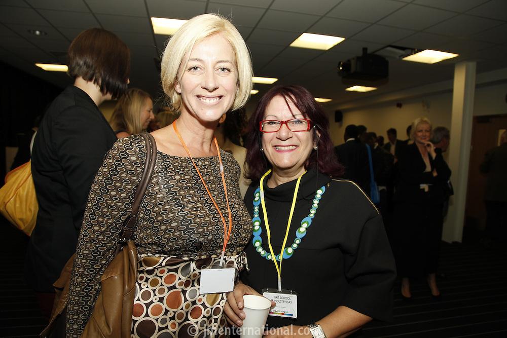Sam Marshall and Rhona Levene, The BRIT School Industry Day, Croydon, London..Thursday, Sept.22, 2011 (John Marshall JME)