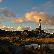 Eigerøy fyr (Eigerøy lighthouse) at Midbrød, Rogaland, Norway.