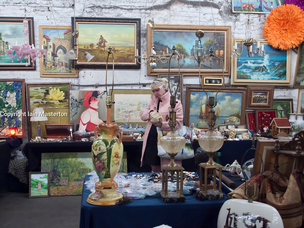 Indoor antique and flea market in Chelsea Manhattan New York City