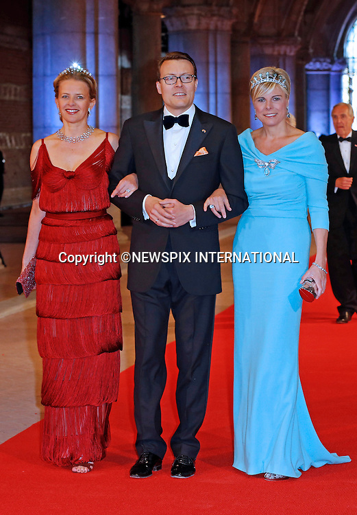 "PRINCESS MABEL WITH PRINCE CONSTANTIJN AND PRINCESS LAURENTIEN OF THE NETHERLANDS.attend the gala farewell dinner for Queen Beatrix at the Rijksmuseum in Amsterdam, The Netherlands_April 29, 2013..Crown Prince Willem-Alexander and Crown Princess Maxima will be proclaimed King and Queen  of The Netherlands on the abdication of Queen Beatrix on 30th April 2013..Mandatory Credit Photos: ©NEWSPIX INTERNATIONAL..**ALL FEES PAYABLE TO: ""NEWSPIX INTERNATIONAL""**..PHOTO CREDIT MANDATORY!!: NEWSPIX INTERNATIONAL(Failure to credit will incur a surcharge of 100% of reproduction fees)..IMMEDIATE CONFIRMATION OF USAGE REQUIRED:.Newspix International, 31 Chinnery Hill, Bishop's Stortford, ENGLAND CM23 3PS.Tel:+441279 324672  ; Fax: +441279656877.Mobile:  0777568 1153.e-mail: info@newspixinternational.co.uk"
