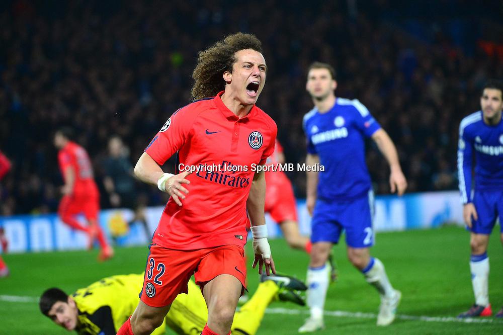 Joie David LUIZ - 11.03.2015 - Chelsea / Paris Saint Germain - 1/8Finale retour Champions League<br /> Photo : Dave Winter / Icon Sport