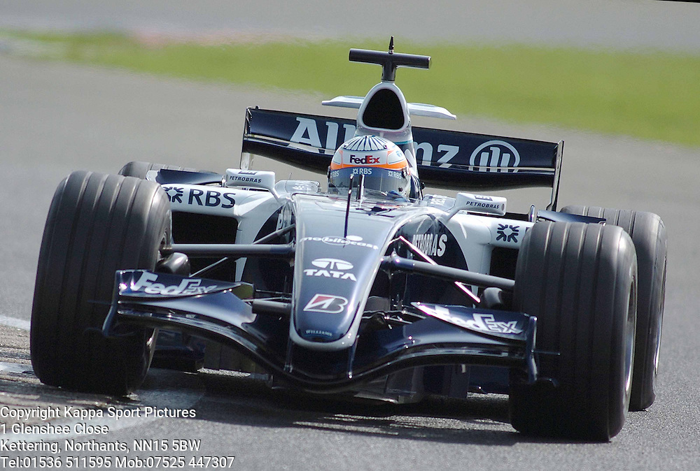 NARAIN KARTHIKEYAN Williams Toyota F1 Formula One Test Silverstone 19th September 2006 :Photo Mike Capps