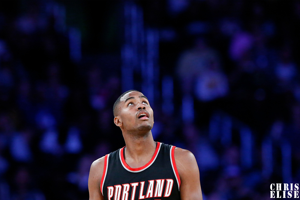 26 March 2016: Portland Trail Blazers forward Maurice Harkless (4) is seen during the Portland Trail Blazers 97-81 victory over the Los Angeles Lakers, at the Staples Center, Los Angeles, California, USA.