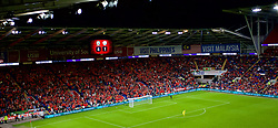 CARDIFF, WALES - Thursday, September 6, 2018: Wales supporters during the UEFA Nations League Group Stage League B Group 4 match between Wales and Republic of Ireland at the Cardiff City Stadium. (Pic by Laura Malkin/Propaganda)