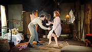I am a Camera<br /> by John Van Druten <br /> at Southwark Playhouse, London, Great Britain <br /> press  photocall <br /> 5th September 2012 <br /> <br /> directed by Anthony Lau <br /> <br /> Harry Melling (as Christopher Isherwood)<br /> <br /> Sherry Baines (as Mrs Watson-Courtneidge)<br /> <br /> Rebecca Hunphries (as Sally Bowles)<br /> <br /> <br /> Photograph by Elliott Franks