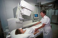 Digital screening x-ray machine at St Helier NHS Trust Hospital; Sutton Surrey UK
