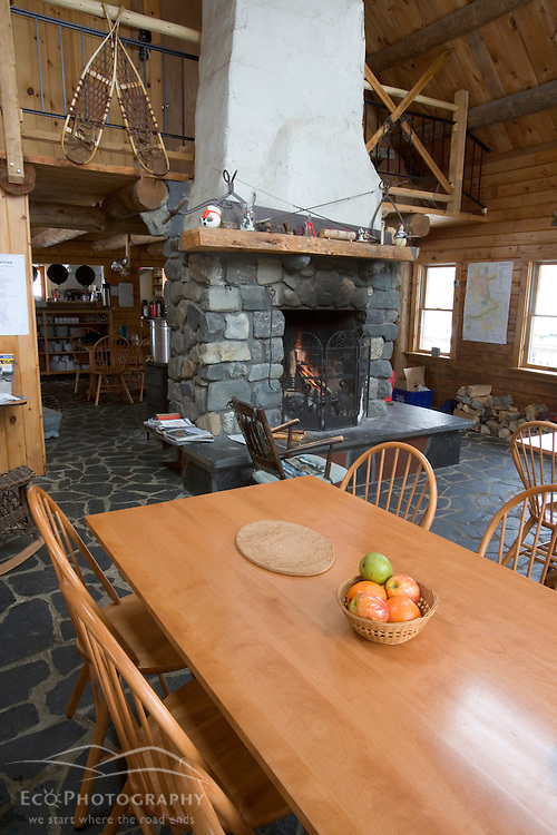 Inside the main lodge at the AMC's Little Lyford Pond Camps in Maine's Northern Forest.