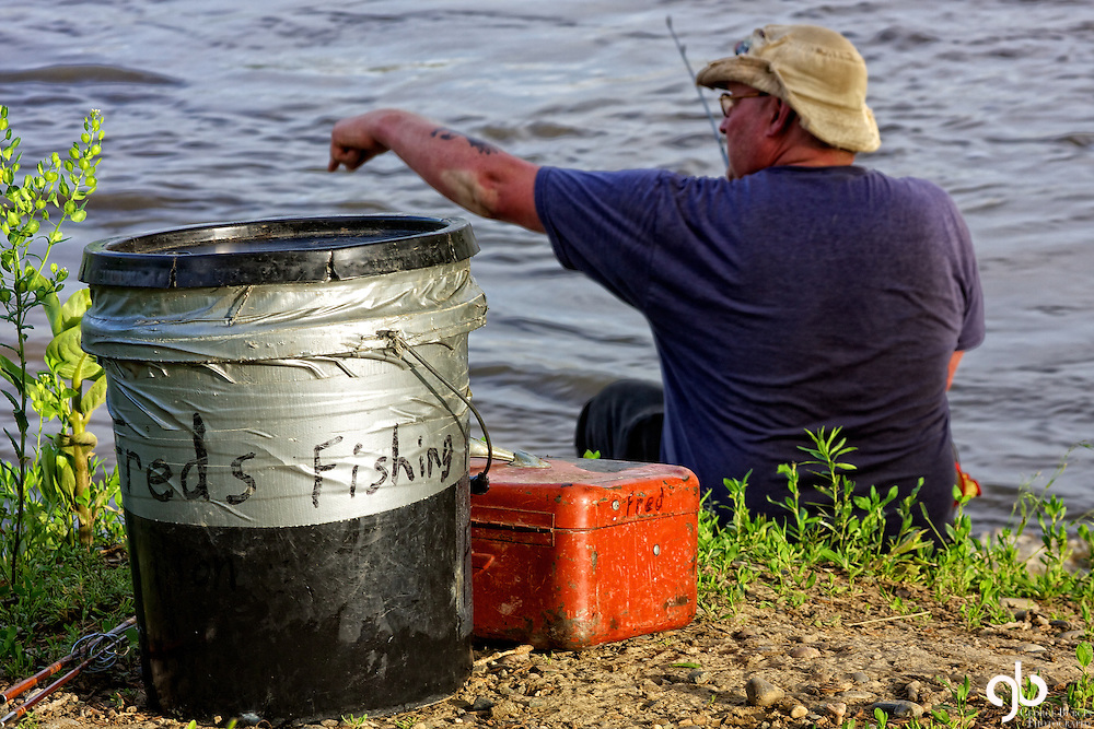 I found a gentleman named Fred fishing along the Yellowstone River.