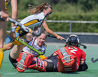 BLOEMENDAAL   - keeper Lauren Logush (Vict)  tijdens de  oefenwedstrijd dames Bloemendaal-Victoria, te voorbereiding seizoen 2020-2021.   COPYRIGHT KOEN SUYK
