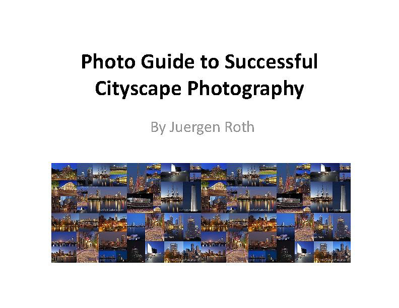 This 54 page photo guide compiles to the point photo tips for better cityscape photography at all times of the day and year. The e-book provides info on camera gear and where, how and when to capture skyline photography images. The importance of light is discussed and the behind the shot sections talk about circumstances, technique, settings and post processing work flows. It all rounds up with a list of the 20 best Boston photography locations and a cheat sheet for your next city photo adventure.