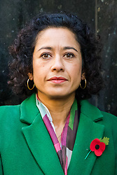 © Licensed to London News Pictures. 28/10/2019. London, UK. Television presenter, Samira Ahmed arrives at the Central London Employment Tribunal to attend an equal pay case hearing against the BBC. Samira Ahmed, who presents Newswatch on BBC One and Radio 4's Front Row claims she was paid less than male colleagues for doing equivalent work under the Equal Pay Act. Photo credit: Vickie Flores/LNP