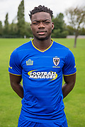 Desi Oshialja during the AFC Wimbledon Photocall 2017 at the Kings Sports Ground, New Malden, United Kingdom on 1 August 2017. Photo by Shane Healey.