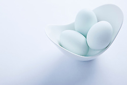 Light Blue Eggs in a Bowl